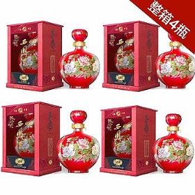 西凤国花瓷55度1500毫升(原浆陈酿 4瓶)