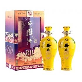 西凤30年国花瓷52度500毫升(帝王至尊双瓶套装)