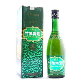 汾酒竹叶青酒45度475毫升(绿盒( 2003年生产))