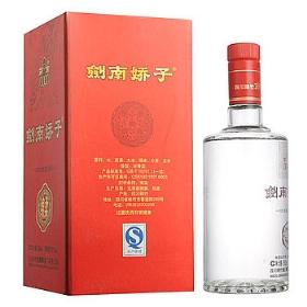 剑南春剑南娇子38度500毫升(绵柔新红盒)