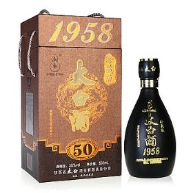 太白酒50年50度500毫升(1958珍藏版)