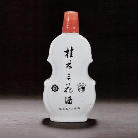 70年代产56度500ml瓷瓶提琴形桂林三花酒