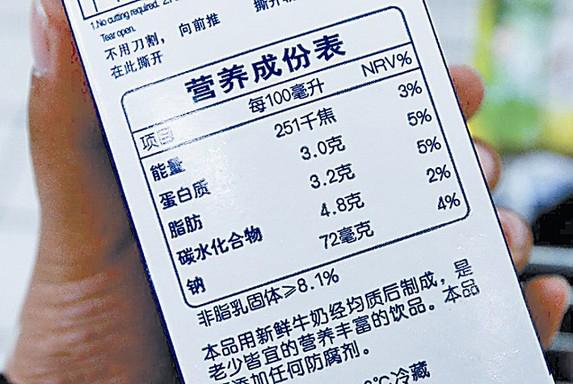 预包装食品标签标准