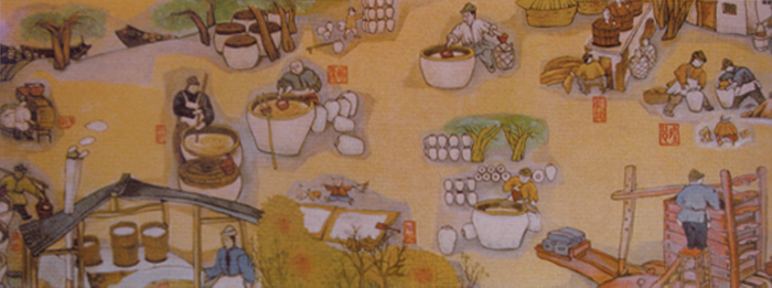 绍兴花雕酒酿制流程图