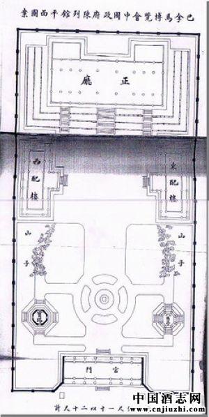 中国政府陈列馆平面图